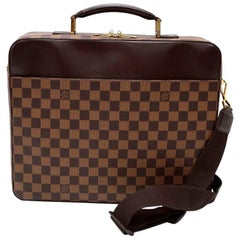 Louis Vuitton Porte Ordinateur Sabana Ebene Damier Briefcase Bag + Strap