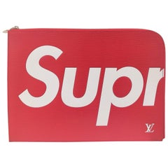Louis Vuitton Red epi leather Supreme Holder