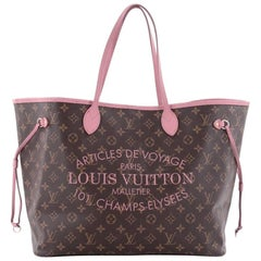 Louis Vuitton Neverfull Tote Limited Edition Ikat Monogram Canvas GM