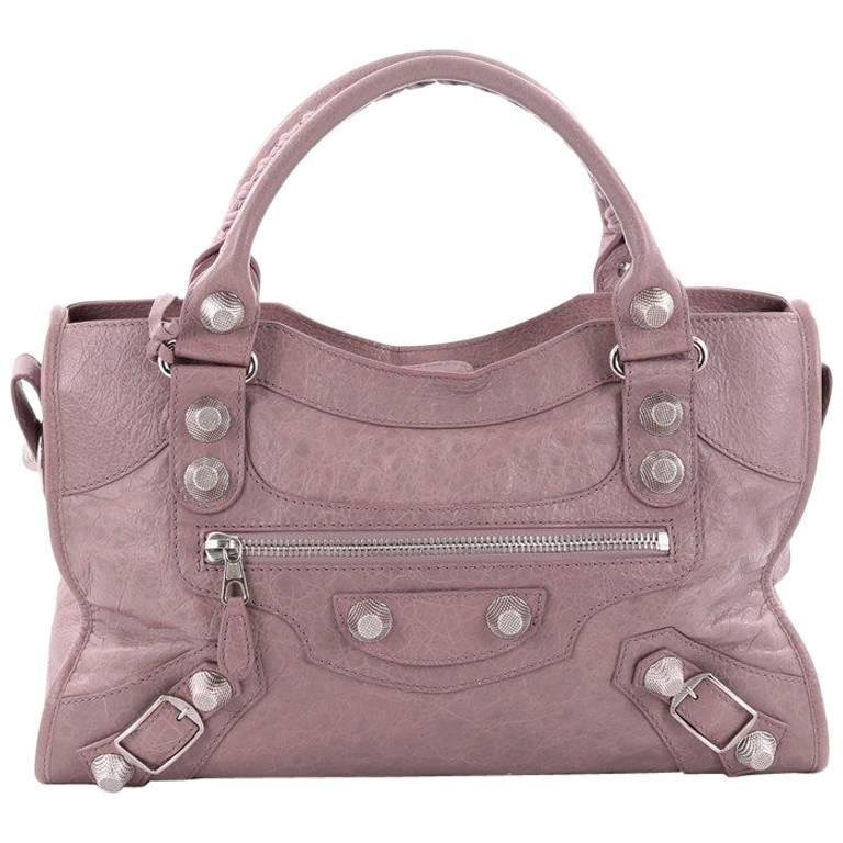 Balenciaga City Giant Studs Handbag Leather Medium uV7xtk3S