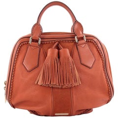 Burberry Hedwig Bowler Bag Leather with Suede Large