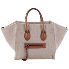 Celine Phantom Handbag Canvas with Leather Medium