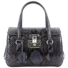 Gucci Lady Lock Satchel Python Small
