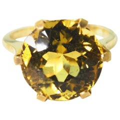 Yellow Citrine Gold Ring
