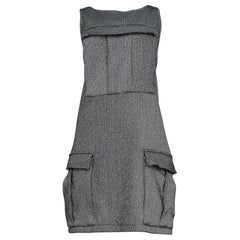 Vintage Stephen Sprouse Metallic Silver Cargo Dress