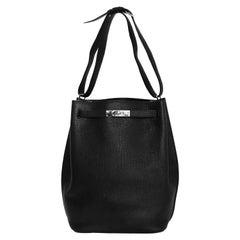 Hermes Black Clemence Leather So Kelly 26 Bag rt. $7,400