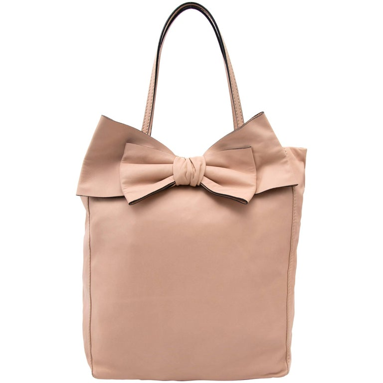 Valentino Blush Pink Leather Bow Tote