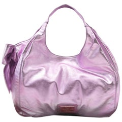 Valentino Metallic Pink Nuage Bow Tote