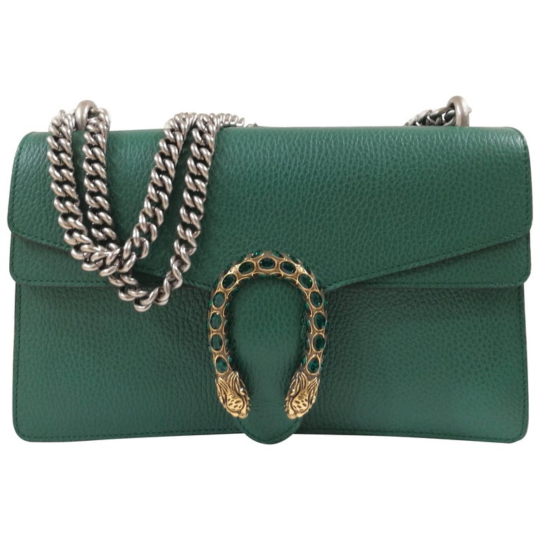 Gucci Green Leather Dionysus Bag For