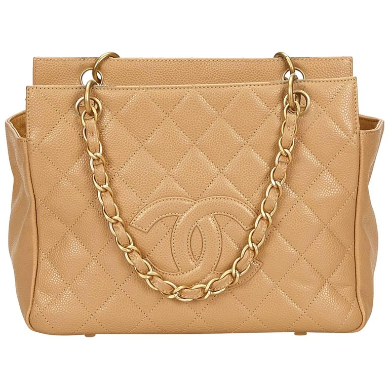 429485714ad8 Chanel Beige Caviar Grand Shopping Bag For Sale at 1stdibs