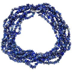 Lapis Lazuli Necklace in three strands