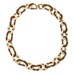 Segueso Italian Glass Chain Necklace