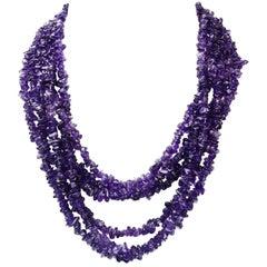 Multi Strand Amethyst Necklace