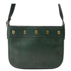 Delvaux Green Fuiraire Crossbody Bag