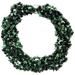 Multi-Strand Emerald Choker Necklace