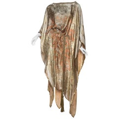 Morphew Collection Kaftan Made from 1920s Lamé Tunic Dress