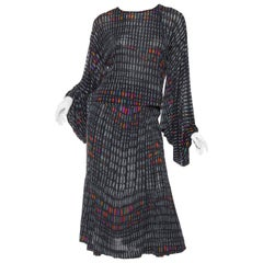 1970s Missoni Printed Silk Jersey Ensemble