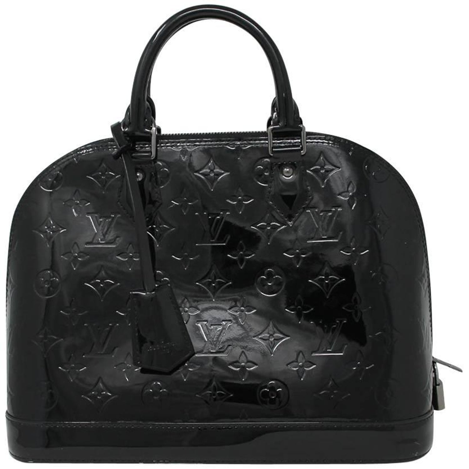 01e53fa01c7a4d Louis Vuitton Alma PM Magnetique Vernis Noir Black Handbag Purse at 1stdibs