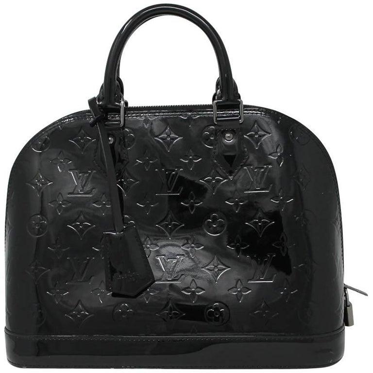 547828639c27 Louis Vuitton Alma PM Magnetique Vernis Noir Black Handbag Purse at 1stdibs