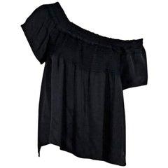 Chanel Black Off-The-Shoulder Top