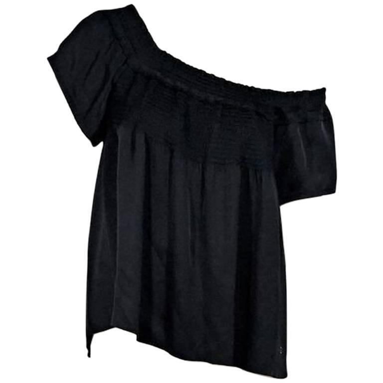 Chanel Black Off-The-Shoulder Top For Sale