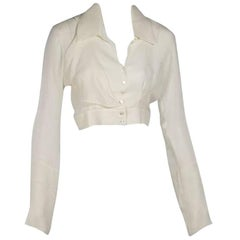 Ivory Chanel Cropped Blouse