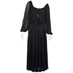 Brown Michael Kors Plissé Maxi Dress