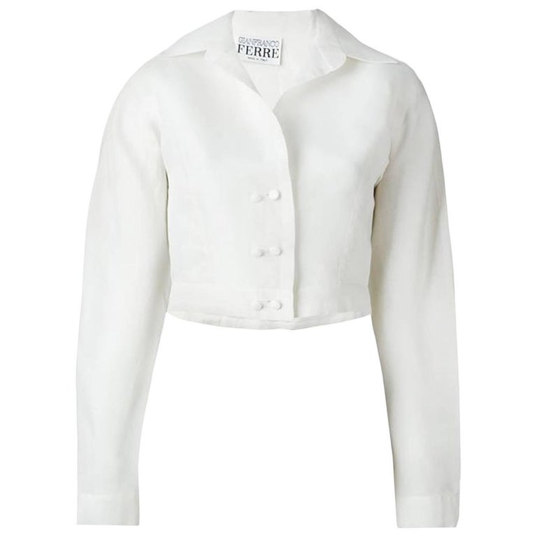 Off White Gianfranco Ferre Organza Silk Top