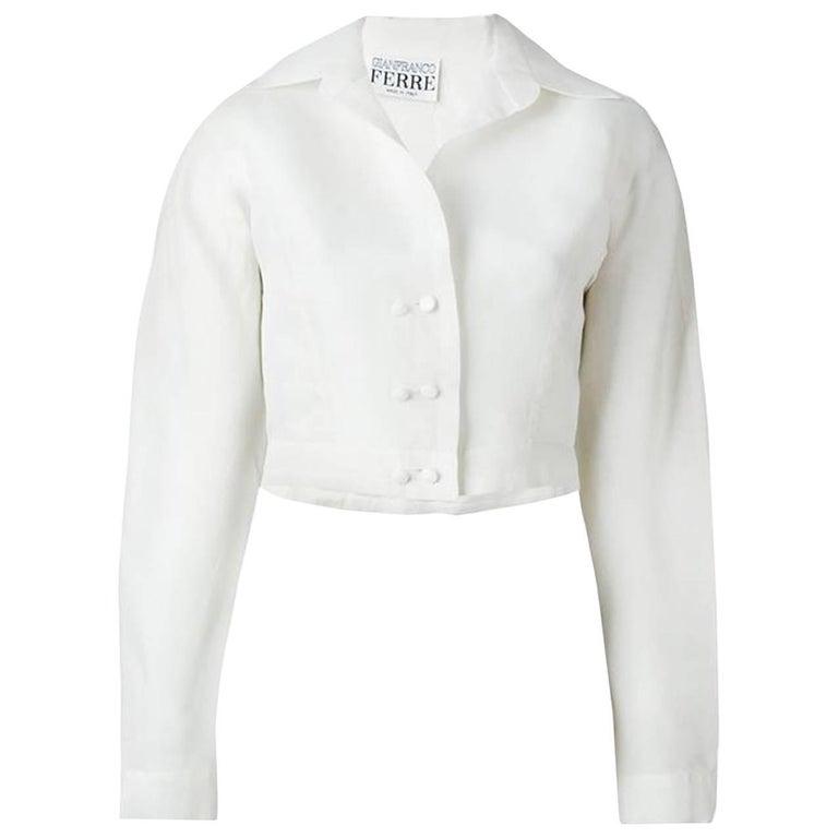 Off White Gianfranco Ferre Organza Silk Top
