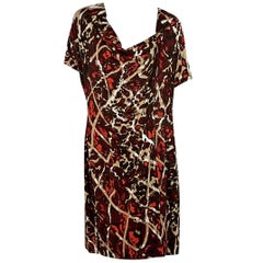 Red Escada Printed Jersey Dress