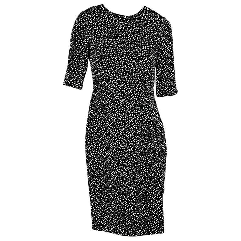 Black & White L.K. Bennett Polka-Dot Dress