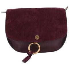 Chloe Kurtis Shoulder Bag Leather and Suede Medium