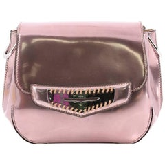 Tod's Infilature Penny Bar Crossbody Bag Patent Leather Mini