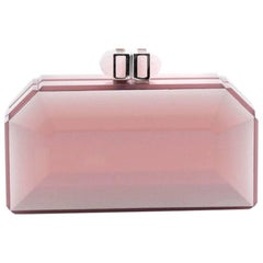 Judith Leiber Faceted Box Clutch Acrylic