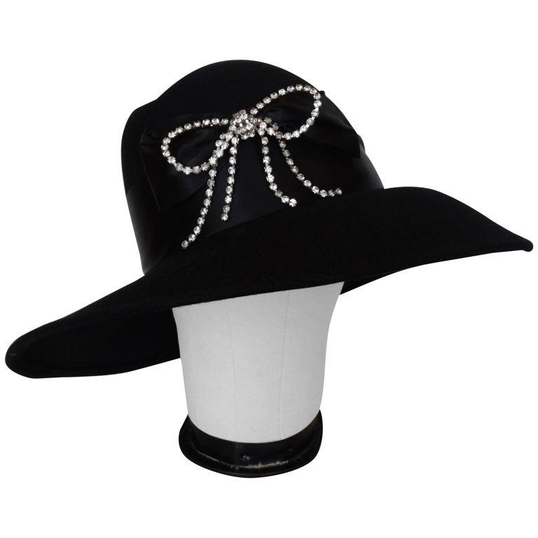1960s Joanne Rhinestone Bow Hat