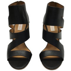 See By Chloe Black Leather Cut Out Heels