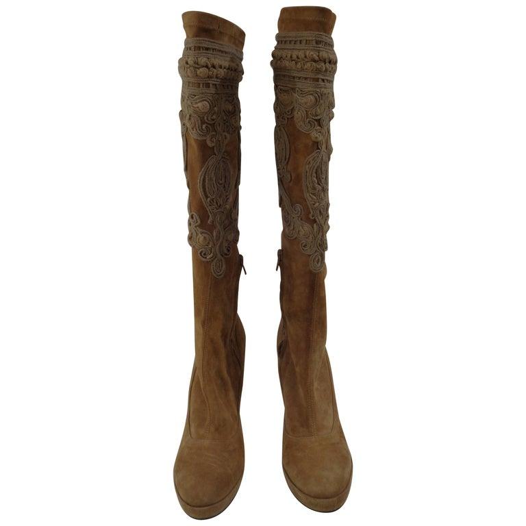 Ermanno Scervino beige boots