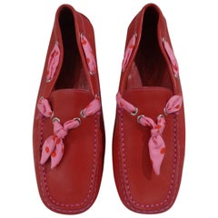 Tod's red leather loafer