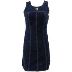Fendi denim cotton dress
