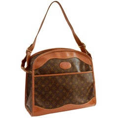 Rare Louis Vuitton The French Company Carry On Tote Bag Monogram Canvas 70s