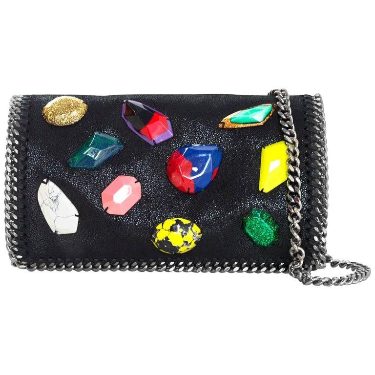 Stella McCartney Black Vegan Leather Falabella Crossbody Bag