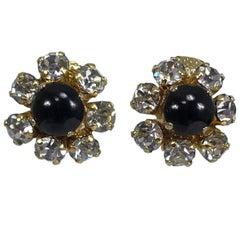 Christian Dior Germany jewel mini ear clips 1965