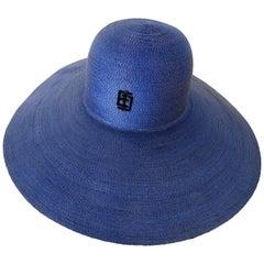 1960s Emilio Pucci Bleu Straw Hat