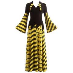 Ossie Clark Spring-Summer 1969 moss crepe full length evening dress