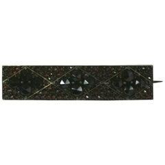 Victorian Garnet Pave Bar Pin