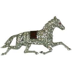 Trifari Art Deco KTF Racing Horse Brooch