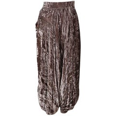 Yves Saint Laurent Crushed Velvet Harem Pants
