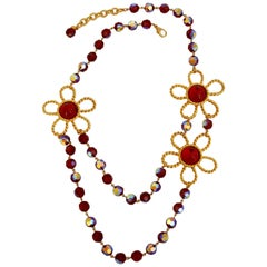 Francoise Montague Red Glass Necklace