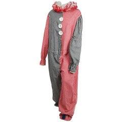1950s Vintage Bicolour Gingham Clown Costume