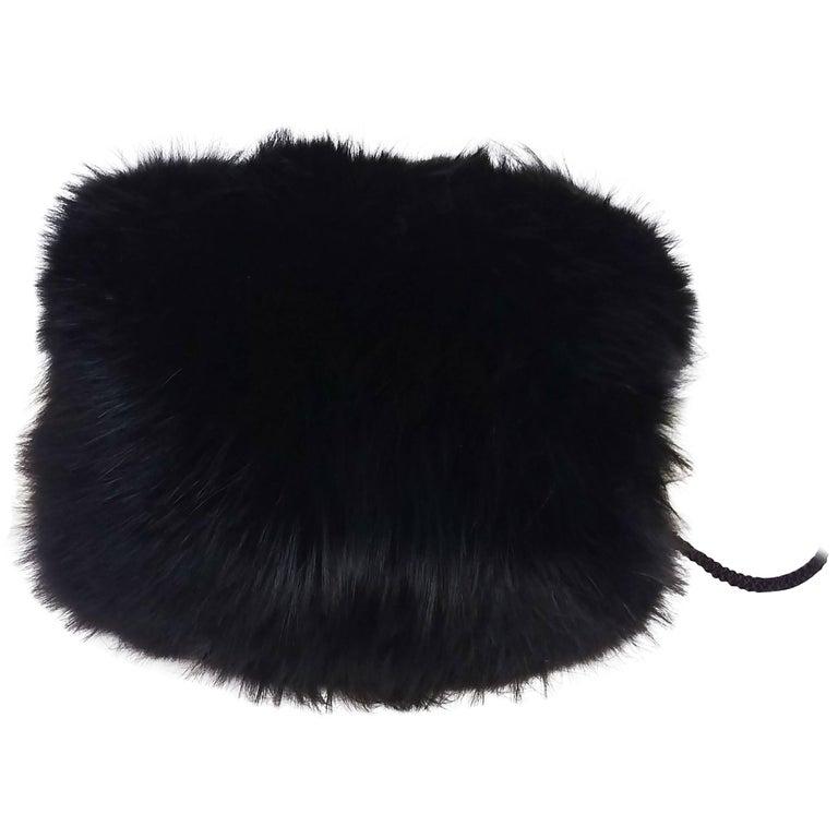 Black Fox Fur Muff
